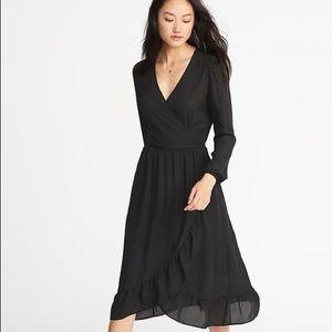 Old Navy Wrap Dress with ruffle hem